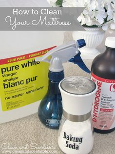 How To Clean Your Mattress ! With products you already have at home !!