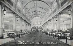 Berlin, Konzerthaus Clou, 1911 Zimmerstraße.