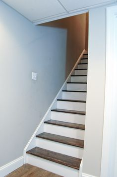 Carpet for basement stairs fantastic the easiest way to remove and completely transform wood decorating ideas Basement Remodel Diy, Basement Renovations, Home Remodeling, Stair Renovation, Basement Carpet, Basement Stairs, Carpet Stairs, Basement Ideas, Basement Plans