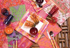 Love the Ikat patterns for the table