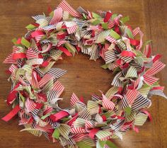 Goin' Over The Edge: A ribbon wreath for Christmas...