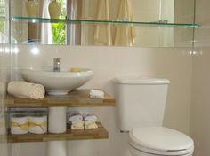 Bathroom Storage Diy Cabinet Decor 57 Ideas For 2019 Kitchen Storage Solutions, Diy Kitchen Storage, Small Bathroom Storage, Diy Storage, Lavabo Diy, Hanging Bathroom Shelves, Rustic Toilets, Small Toilet, Cabinet Decor