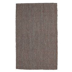 Herringbone Jute Rug - Handloom woven from natural handspun jute yarns in a classic herringbone pattern, this beautiful jute rug is rich in organic texture, with a graphic pattern that lends timeless style to any decor. Featured on The Talk.