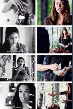 The vampire diaries-feathers at Bonnie's funeral