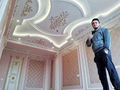 Plaster Ceiling Design, House Ceiling Design, Ceiling Design Living Room, Bedroom False Ceiling Design, House Front Design, Master Bedroom Design, Modern Bungalow House Design, Victorian Rooms, Wooden Door Design