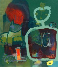 "Saatchi Art Artist deny pribadi; Painting, ""under construction"" #art"