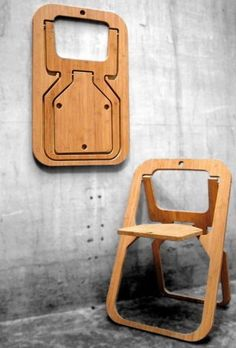 Good Wood Would — Good wood - 'Desile' folding chair by Vange