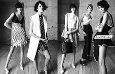 Nicolas Ghesquiere's last collection for Balenciaga photographed by Steven Meisel. SS13
