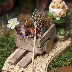 miniature pitch fork #fairygarden
