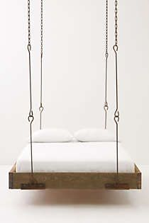 Anthropologie - Barnwood Hanging Bed-  @Alonna Leavitt Leavitt Brown maybe this is what I want!