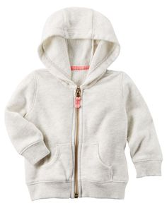 Baby Girl French Terry Zip-Up Hoodie from Carters.com. Shop clothing & accessories from a trusted name in kids, toddlers, and baby clothes.