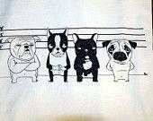 The Line Up - Boston Terrier, Pug, French Bulldog, English Bulldog T-shirt