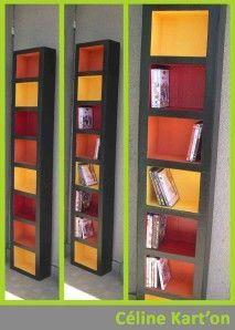 Tour range cd en carton tutoriel meubles en carton for Meuble carton tuto