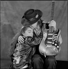 Stevie Ray Vaughan And His Fiancee Jana Taken In Dallas Studio Just Days Before He