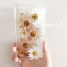 PRE-ORDER Tanacrafts-Pressed Flowers Phone case Real dried flowers Floral phone case  iPhone 4 5 6 6+ Samsung s4 s5 s6 note3 note4 note 5 by tanacrafts2015 on Etsy https://www.etsy.com/listing/267774320/pre-order-tanacrafts-pressed-flowers