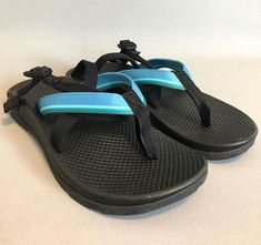 b852cf655251  122 Chaco Women size 9 Ecothread Multi Blue Strap Sandals Shoes Comfort  Walk  Chaco  SportSandals  Hiking