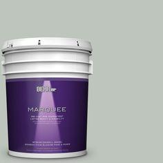 BEHR MARQUEE 5 gal. #N410-3 Riverdale One-Coat Hide Eggshell Enamel Interior Paint