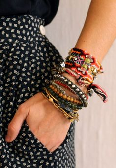 Arm candy bracelets ! I'm beginning an amazing arm candy collection of boho, gyps, hippsta && punchy