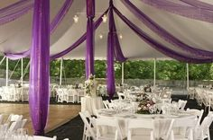 Use Fabric to decorate wedding tents