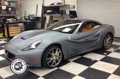 ferrari wraps   Ferrari-Wrapped-Ferrari-Matte-Silver-Farrari-Matte-Wrap-Matte-Grey-12 ... Cool Wraps, Ferrari Car, Car Wrap