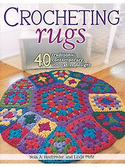 Crocheting Rugs book over 40 rug crochet patterns