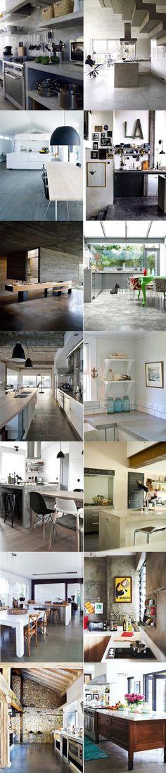 Cozinhas cimento queimado Concrete Interiors, Concrete Furniture, Interior Architecture, Interior Design, Grey Houses, Tiny House Cabin, Pool Houses, Contemporary Interior, Future House
