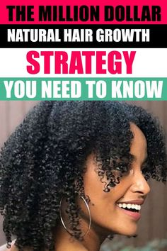 Natural hair growth made easy with this strategy. #naturalhair #hairgrowth Natural Hair Growth Tips, Natural Hair Types, Hair Remedies For Growth, Hair Growth Treatment, Natural Hair Treatments, Breaking Hair, How To Grow Your Hair Faster, Hair Growth Cycle, Fast Hairstyles