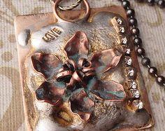 flooded solder pendant | Soldered Necklace Pendant Handmade Feminine Rustic Jewelry Renaissance ...