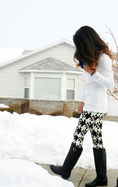 Patterned Leggings. Oh so cute.... oooohhhh to have thin thighs!