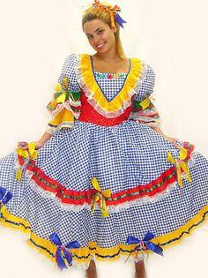 festa junina e vestidos Vestido moda para suas Festa Juninas