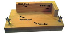 Do it yourself book binding jig  ---------------------  for glueing spines or making notch cuts