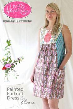 Painted Portrait Blouse & Dress