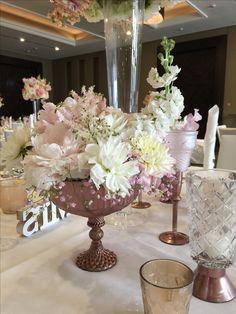 Brauttisch in rose gold