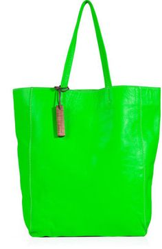 shop the Monserat de Lucca Neon Green Leather Tote online