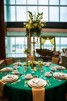 Elegant Wedding Inspiration at Baylor University's McLane Stadium and Baylor Club  |  SouthernBridal.com