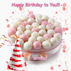 giortazo.gr: Happy Birthday Animated Images Happy Birthday Wishes Sister, Happy Birthday To Me Quotes, Happy Birthday Flower, Happy Birthday Images, Happy Birthday Greetings, Congratulations Quotes, Everything Pink, Birthdays, Heart Gif