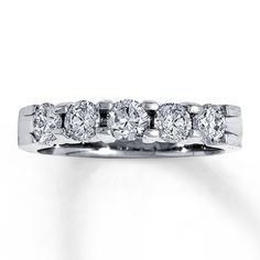 14k White Gold 1 Carat T W Diamond Band 1799 Jareds