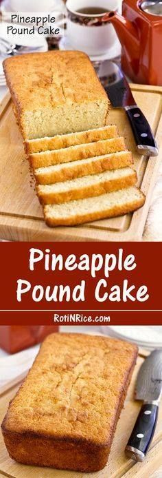 This Pineapple Pound This Pineapple Pound Cake is made with...  This Pineapple Pound This Pineapple Pound Cake is made with pineapple puree for a finer and smoother textured pineapple cake. It is deliciously moist and tender. | Food to gladden the heart at RotiNRice.com Recipe : http://ift.tt/1hGiZgA And @ItsNutella  http://ift.tt/2v8iUYW