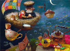 Art by Victor Nizovtsev...would be great to go in a nursery