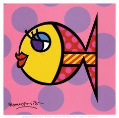 Dittie Fish Print by Romero Britto at Art.com