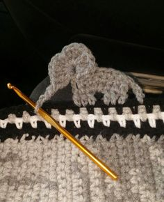 Crochet elephant border…