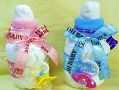 Baby Bottle Diaper Cake by TheStitchinMouse on Etsy, $11.95