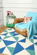 Soft Furnishings at Urban Outfitters Triangles, Urban Outfitters Rug, 5x7 Rugs, Painted Rug, Geometric Decor, Old Chairs, Home Rugs, Home And Deco, Home Staging