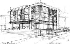 Drawing Architecture Warsaw Szkic - Architektura Warszawa Koncepcja http://www.mkarchitekci.com.pl/
