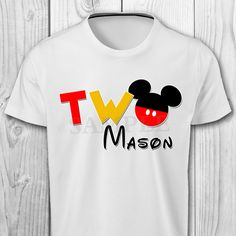 Mickey Mouse Iron On T-shirt Mickey Mouse Birthday Boy