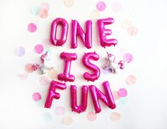 ONE IS FUN letter balloon kit – Oh Shiny Paper Co