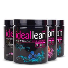 Crush every workout and burn more fat! IdealLean Pre-Workout for women has 150mg of natural caffeine for a clean energy boost and increased focus.