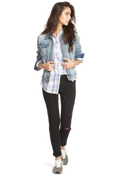 Madewell Denim Jacket, BP. Shirt & Jeans available at #Nordstrom