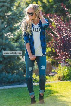 #plaid #longhair #modest #sunglasses #prada #caraloren #rachparcell #blondehair #shreddedjeans
