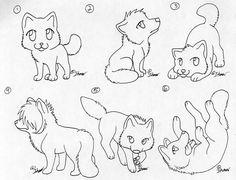 Free Chibi Wolf Lineart by itsmar-Adopts.deviantart.com on @DeviantArt